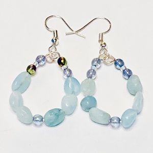 Fair Skies ☀️ Light Blue Quartz Earrings